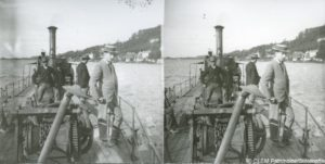 Image stéréoscopique bateau Bordeaux Lormont