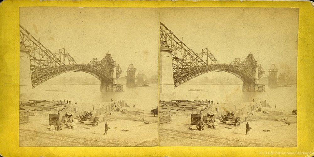 Images stéréoscopiques Boehl & Koenig's 1873 Saint-Louis Eads