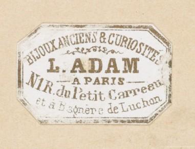 Bijoux anciens et curiosités L. Adam Paris Bagnères-de-Luchon