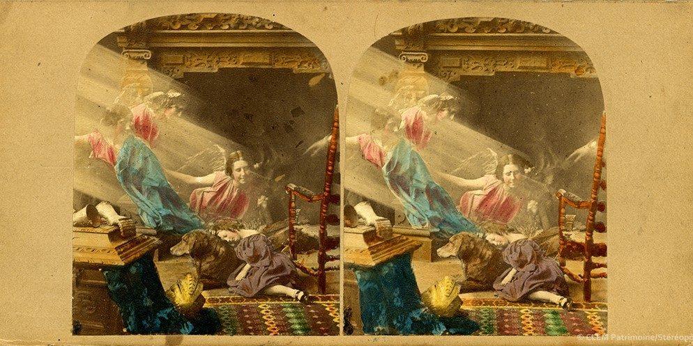 Images stéréoscopiques James Elliott The Orphan's Dream