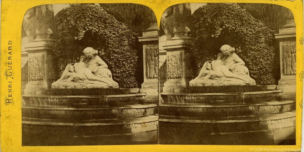 Images stéréoscopiques Guérard Henri Paris Fontaine Médicis