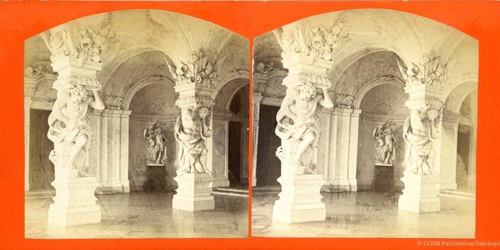 Images stéréoscopiques Kramer Oscar Vienne Palais du Belvédère
