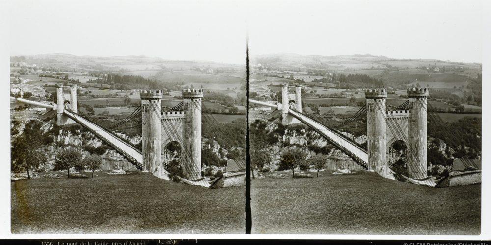 Images stéréoscopiques Lévy et Ferrier Allonzier-la-Caille Pont Charles-Albert