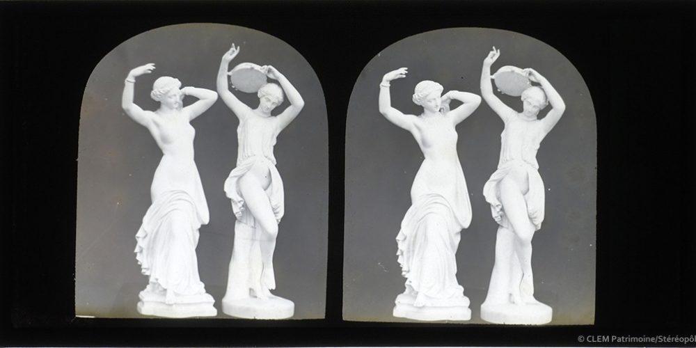 Images stereoscopiques Marchi Salvatore Pradier Groupe de danseuses