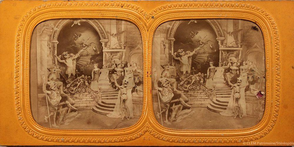 Images stéréoscopiques Jules Marinier Diableries 1868