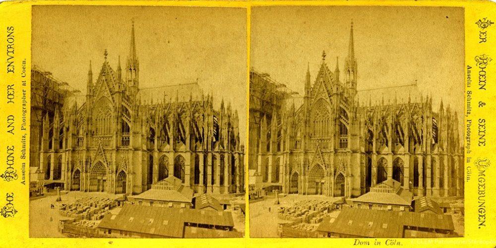 Images stéréoscopiques Schmitz Anselm Cologne Cathédrale Le Rhin et ses environs
