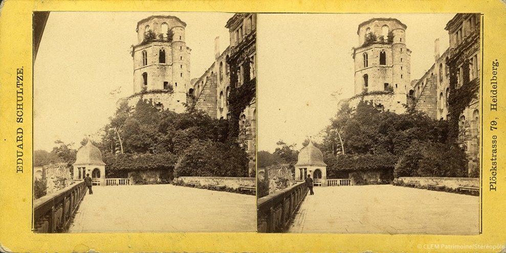 Images stéréoscopiques Schultze Eduard Heidelberg Château