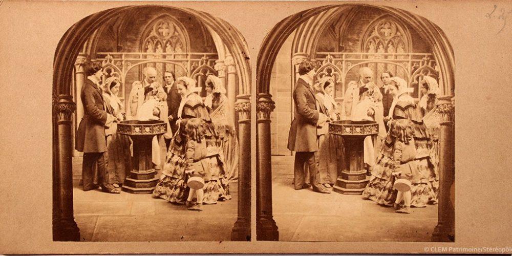 Images stéréoscopiques Silvester Alfred Baptême