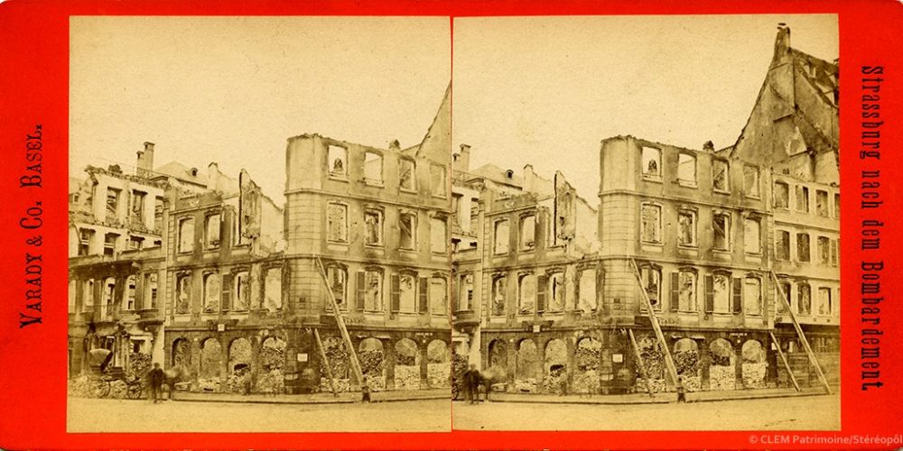 Images stéréoscopiques Vadary & Co. Basel Strasbourg 1870