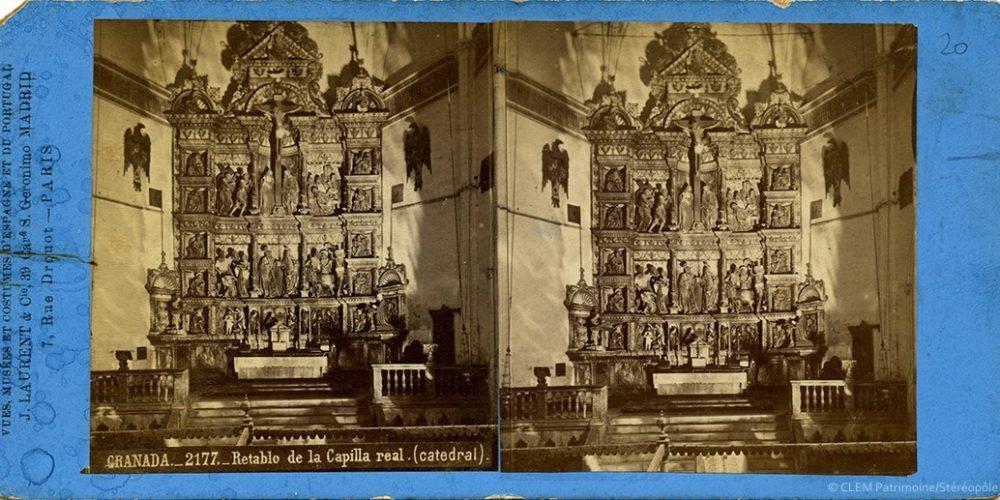 Images stéréoscopiques Laurent J. Grenade retable chapelle royale