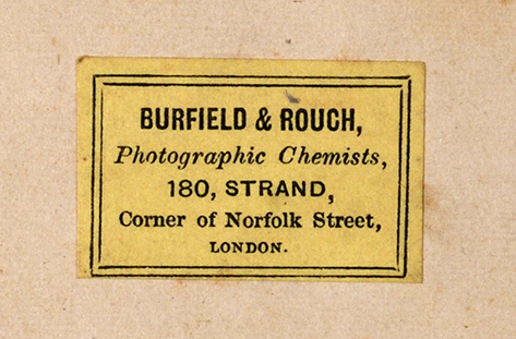 Burfield & Rouch Photographic Chemist London