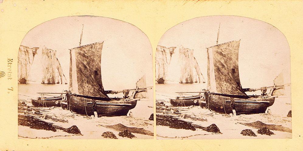 Images stéréoscopiques Davanne Louis-Alphonse Etretat